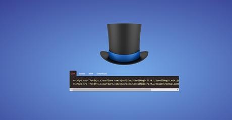 Screenshot Site Scrollmagic