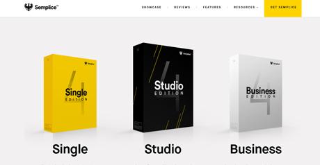 Screenshot Site Semplice