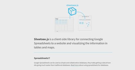 Screenshot Site Sheetsee JS