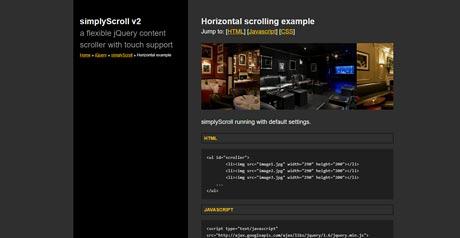 Screenshot Site SimplyScroll v2