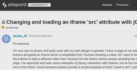 Screenshot Site iframe