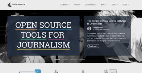 Screenshot Site Sourcefabric