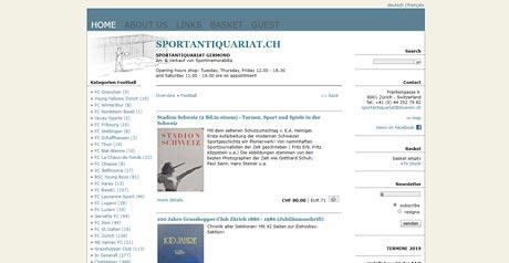 Screenshot Site Sportantiquariat