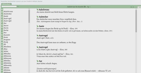 Screenshot Site Sprichwörter