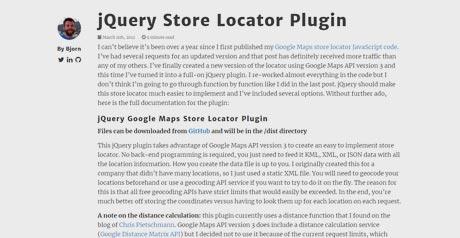 Screenshot Site JQuery Store Locator Plugin