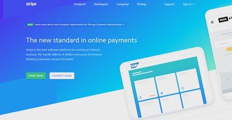 Screenshot Site Stripe