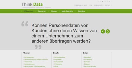 Screenshot Site Think Data