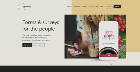 Screenshot Site Typeforms