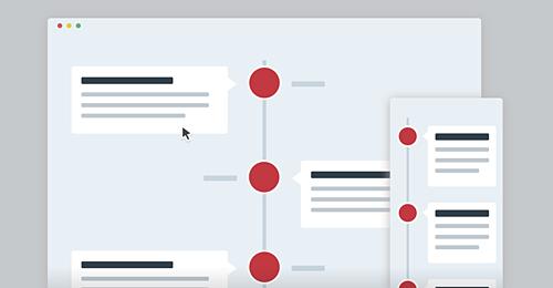 Screenshot Site Vertical Timeline