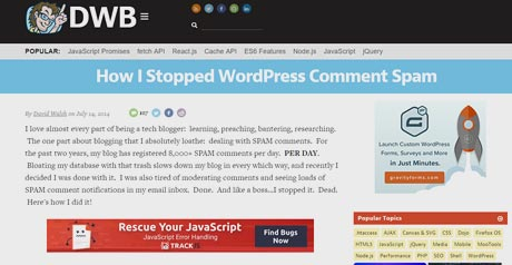 Screenshot Site How I Stopped WordPress Comment Spam