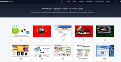 Screenshot Site Web Design Museum
