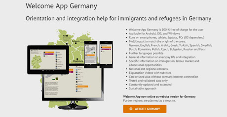 Screenshot Site Welcome App Concept