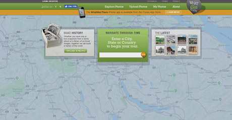 Screenshot Site WhatWasThere