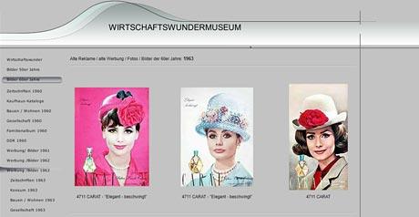 Screenshot Site Wirtschaftswundermuseum