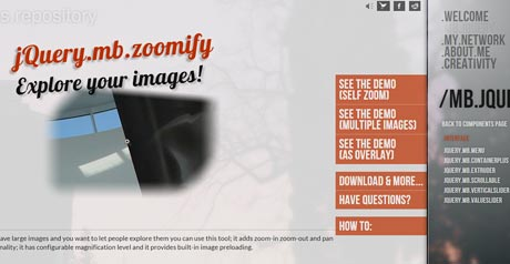 Screenshot Site JQUERY.MB.ZOOMIFY